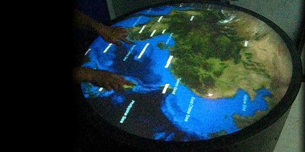 Multi-touch Round Table (多點觸控圓桌)  - Interactive Virtual 3D Globe