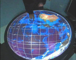 Multitouch Round Table - Interactive 3D Globe Projection