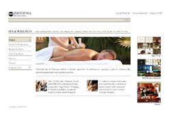 Waterfall Spa Wellness official website